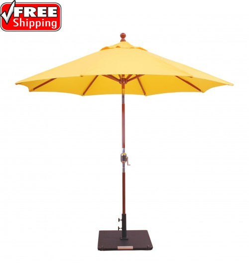 Galtech 139/239 - 9 FT Wood Market Umbrella  / Rotational Tilt