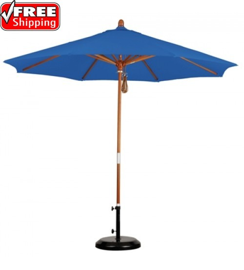 California Umbrella  - 9 FT Octagon Wood Umbrella