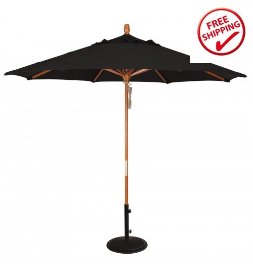 Treasure Garden 9' Wood Umbrella - FRAME ONLY