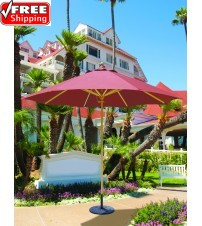 Galtech 131 - 9 FT Wood Market Umbrella