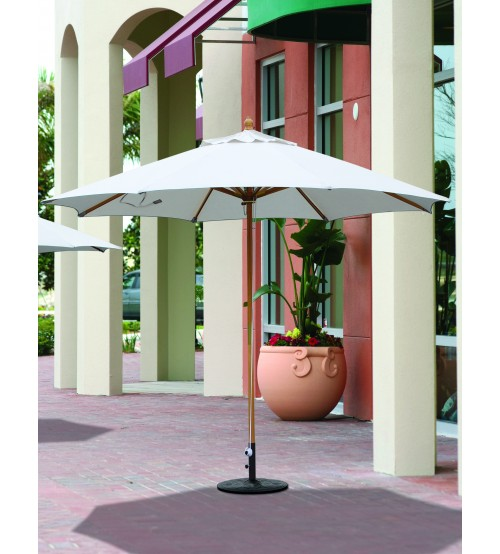 Wide Selection Large Umbrellas Galtech 11 Wood Market Umbrella