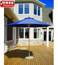 Galtech 9' Teak Market Umbrella - Replacement frame