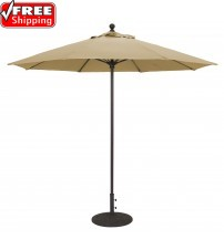 Galtech 735   9 FT Commercial Umbrella Fiberglass   Frame Only