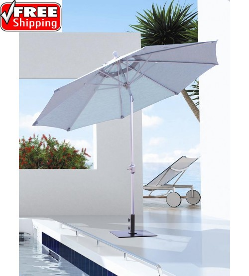 best selection tilt patio umbrellas - galtech 9 ft deluxe auto tilt Balcony Umbrella