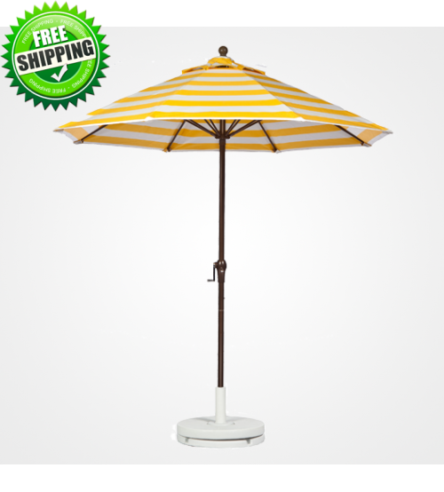 7.5 FT Commercial Market Umbrella with Crank, Auto-Tilt