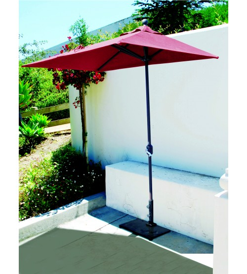 Merveilleux ... Galtech 772   3.5x7 FT Half Wall Commercial Patio Umbrella