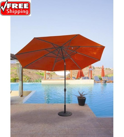 Galtech 779 - 8x11 FT Oval Deluxe Auto Tilt Patio Umbrella
