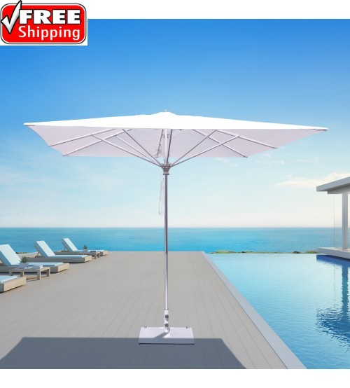 Galtech 792 - 10x10 FT Square Commercial Patio Umbrella - Frame Only