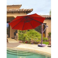 11' Octagon Galtech Cantilever Patio Umbrella w/ Base