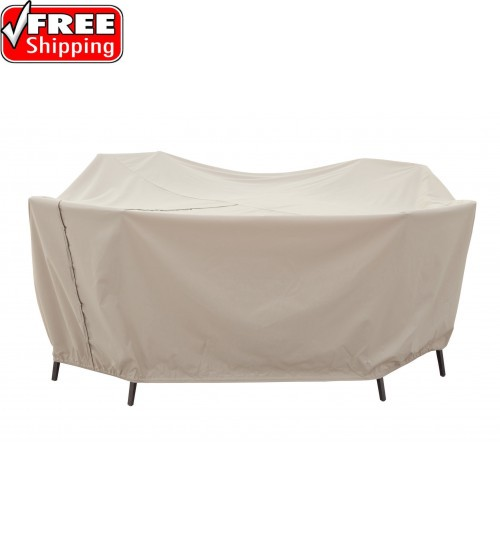 """Treasure Garden Protective Furniture Cover - 60"""" Round Table and Chairs w/8 ties, velcro closure, elastic & spring cinch lock"""