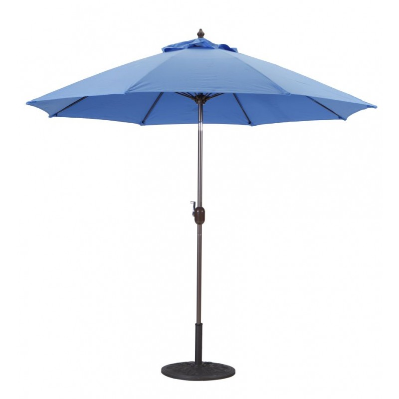 Galtech 9 39 manual tilt patio umbrella for Balcony umbrella