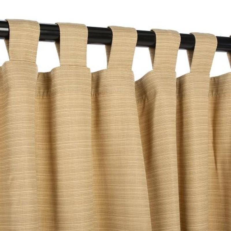 Sunbrella Outdoor Curtain With Tabs In Spectrum Cilantro