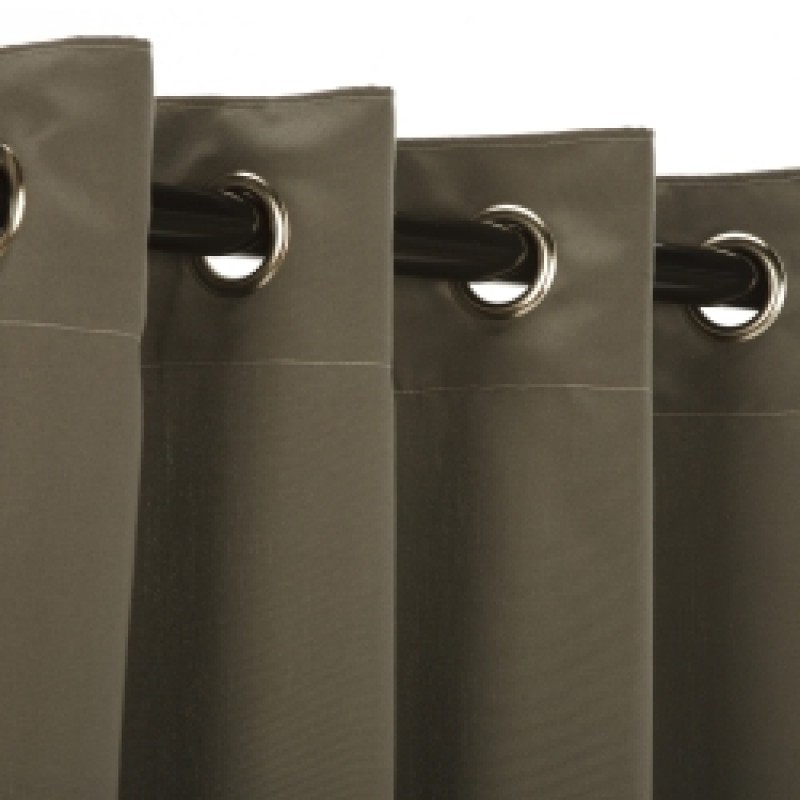 Sunbrella Outdoor Curtain With Nickle Grommets Charcoal