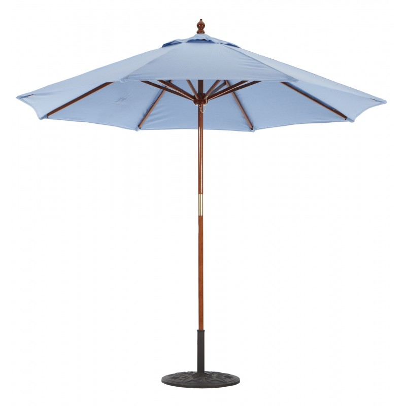galtech 9 wood market umbrella with pulley lift