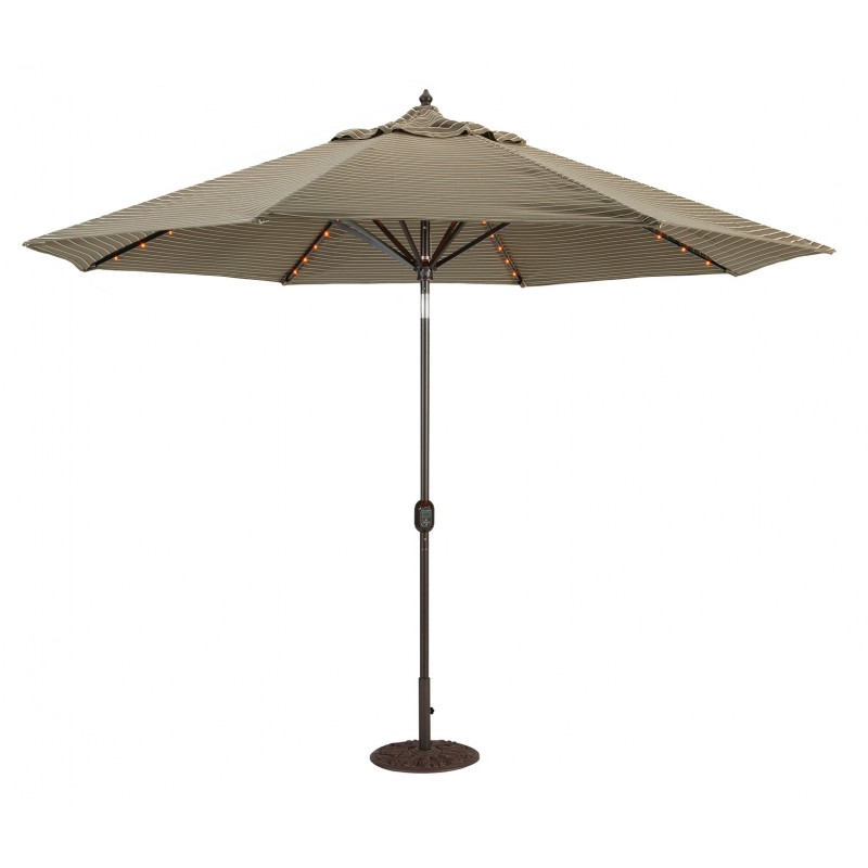 galtech 11 39 auto tilt patio umbrella w l e d lights