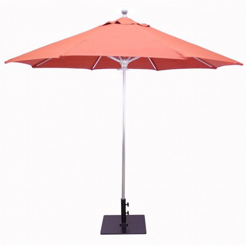 Galtech 9 39 commercial patio umbrella for Balcony umbrella