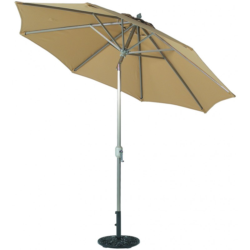 9 Round Deluxe Auto Tilt Patio Umbrella