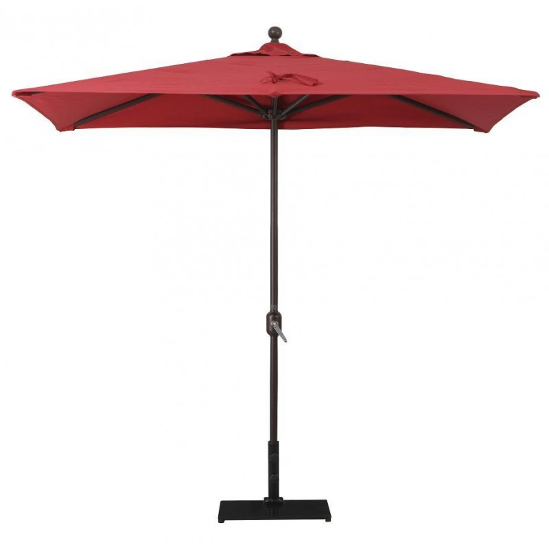 Half Rectangular Patio Umbrella 5 Led Rectangular Patio