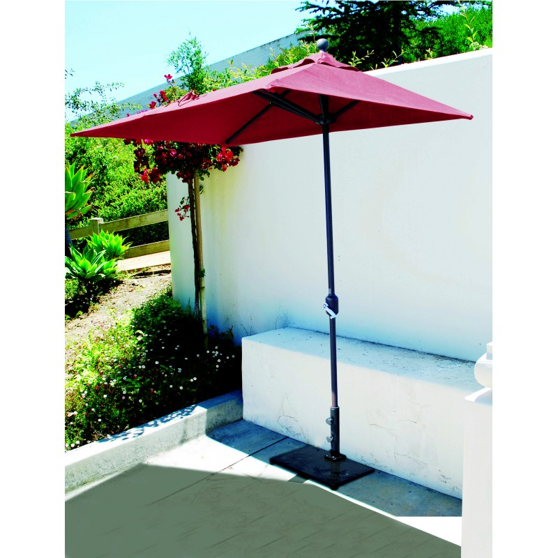 Galtech half wall commercial patio umbrella for Balcony umbrella