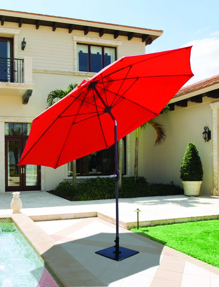 Perfect Galtech 636   9 FT Manual Tilt Patio Umbrella
