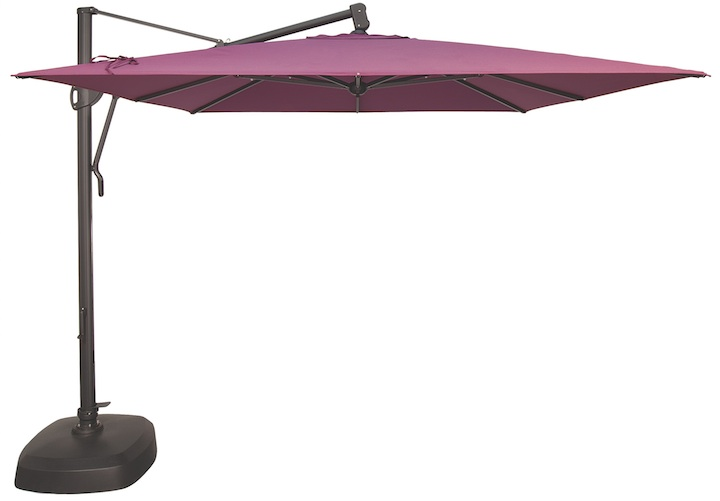 Sunbrella Treasure Garden 10 Foot Square Cantilever Patio Umbrella