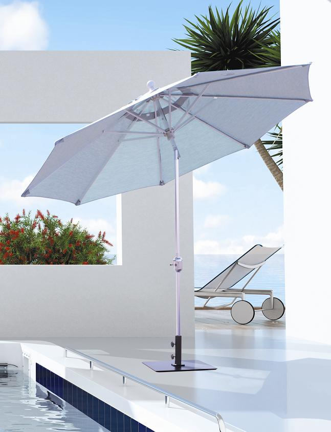 Perfect Galtech 737   9 FT Deluxe Auto Tilt Patio Umbrella