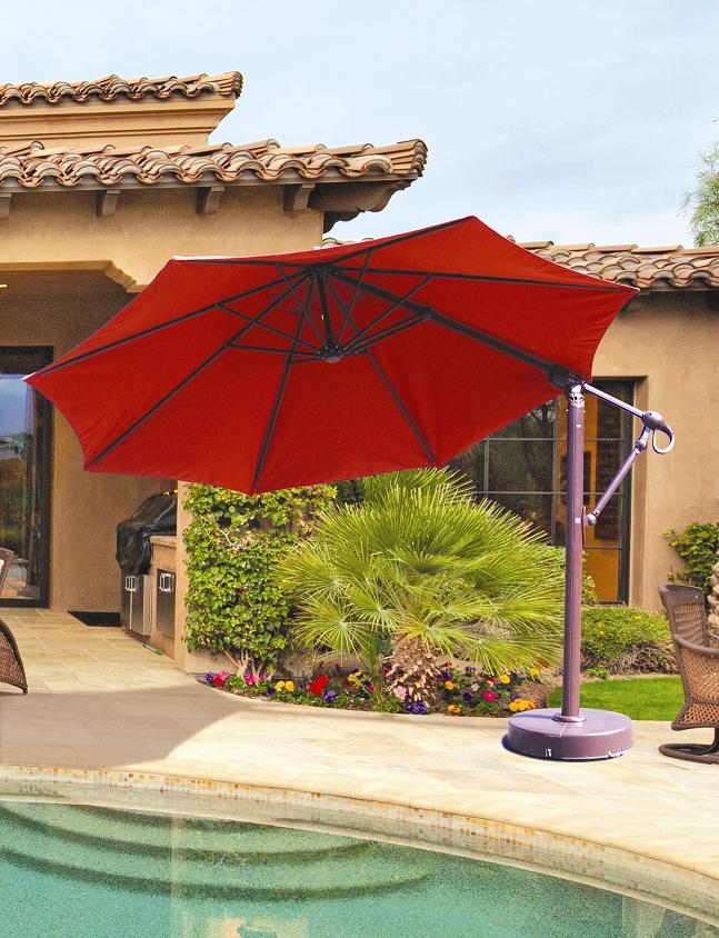 Galtech 887   11 FT Octagon Cantilever Patio Umbrella ...