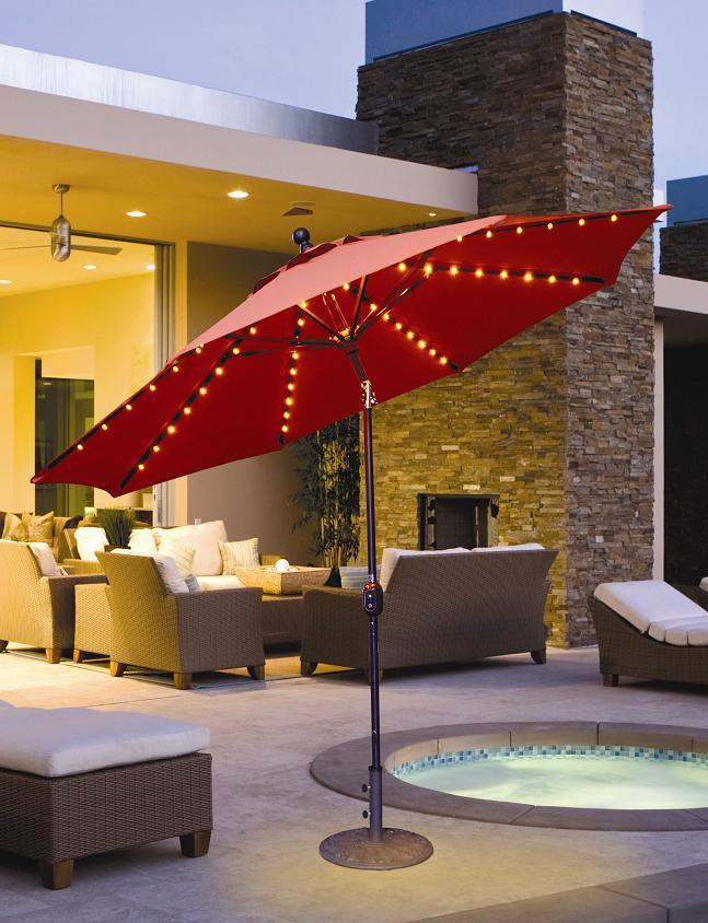 ... Patio Umbrella W/ L.E.D. Lights Quick View